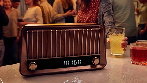 Philips VS700 Bluetooth-høyttaler i retrodesign med radio